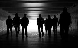 Caminata de la gente Imagenes de archivo