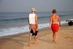 Caminata de la mañana Fotografía de archivo