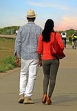 Caminata de la manera Foto de archivo libre de regalías