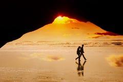 Caminata A de la playa Foto de archivo