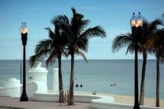 Caminata de la playa del pie Lauderdale Imagen de archivo