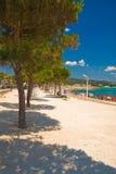 Caminata de la playa en Francia, d'Azure del corral imágenes de archivo libres de regalías