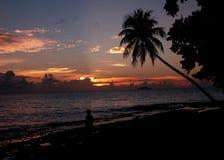 Caminata de la puesta del sol Imagen de archivo libre de regalías