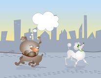 Caminata de los perros ilustración del vector