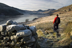 Caminata de País de Gales imagenes de archivo
