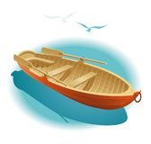 Caminata del agua en el barco Foto de archivo libre de regalías