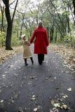 Caminata del bosque Fotos de archivo