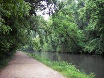 Caminata del canal Foto de archivo