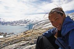 Caminata del glaciar imagenes de archivo