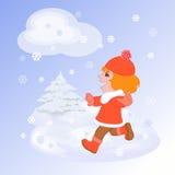 Caminata del invierno libre illustration
