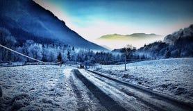 Caminata del invierno Imágenes de archivo libres de regalías