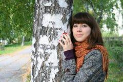 Caminata del otoño. Foto de archivo libre de regalías