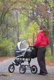 Caminata del otoño con el bebé Foto de archivo