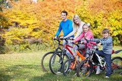 Caminata del otoño en bicicleta Imagen de archivo