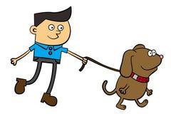 Caminata del perro Imágenes de archivo libres de regalías