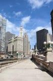 Caminata del río de Chicago fotografía de archivo libre de regalías