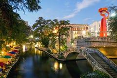 Caminata del río en San Antonio Tejas Foto de archivo libre de regalías