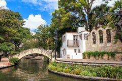 Caminata del río en San Antonio, Tejas Imagen de archivo libre de regalías