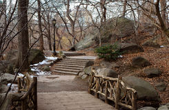 Caminata en Central Park Foto de archivo libre de regalías
