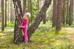 Caminata en el bosque Fotos de archivo