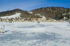 Caminata en el lago Fotografía de archivo