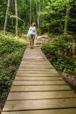 Caminata en el parque Imagenes de archivo
