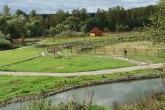 Caminata en granja Imagen de archivo