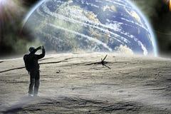 Caminata en la luna. Fotografía de archivo libre de regalías