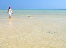 Caminata en la playa. Islas de la phi de la phi Imagen de archivo libre de regalías