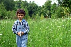 Caminata en un prado. Imágenes de archivo libres de regalías