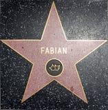 Caminata fabiana de la estrella de la fama Imagenes de archivo