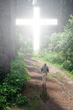Caminata a la cruz Imagen de archivo