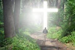 Caminata a la cruz Imagenes de archivo