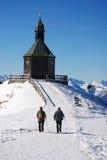 Caminata a la cumbre Imagenes de archivo