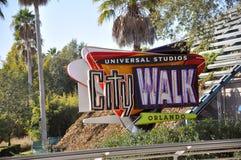 Caminata Orlando de la ciudad de los estudios universales Fotografía de archivo libre de regalías