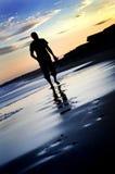 Caminata sola Foto de archivo