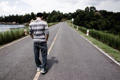 Caminata sola Imagen de archivo