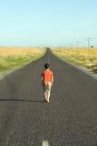 Caminata triste Foto de archivo libre de regalías