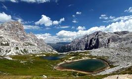 Caminatas, lagos, y colores Imagen de archivo