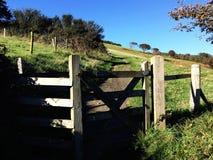 Camine conmigo en la trayectoria costera de Devon del norte Fotos de archivo libres de regalías