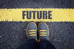 Camine en el futuro imagen de archivo libre de regalías