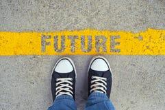 Camine en el futuro Imágenes de archivo libres de regalías