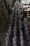 Camine más cercano a los guerreros de la terracota en XI el `, China Él ` s al t Imagenes de archivo
