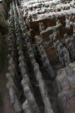 Camine más cercano a los guerreros de la terracota en XI el `, China Él ` s al t Fotos de archivo