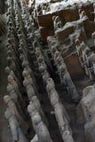 Camine más cercano a los guerreros de la terracota en XI el `, China Él ` s al t Foto de archivo libre de regalías