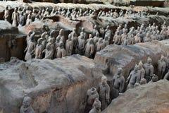 Camine más cercano a los guerreros de la terracota en XI el `, China Él ` s al t Imagen de archivo libre de regalías