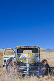 Caminhão abandonado fotos de stock