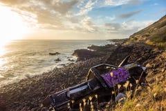 Caminhão abandonado na costa Imagens de Stock Royalty Free