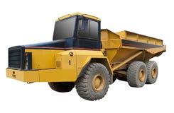 Caminhão amarelo, isolado Foto de Stock Royalty Free