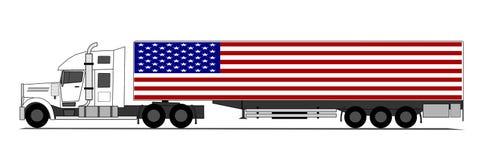 Caminhão americano grande Fotografia de Stock Royalty Free